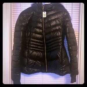 Women's Andrew Marc Buffer Jacket size M Black
